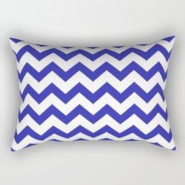 Chevron (Navy & White Pattern) Rectangular Pillow