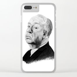 Alfred Hitchcock Clear iPhone Case