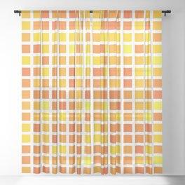 City Blocks - Sunshine #959 Sheer Curtain