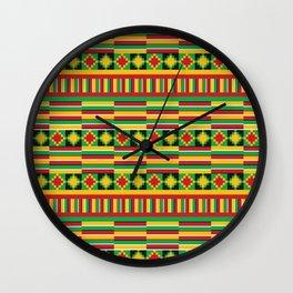 Kente pattern Wall Clock