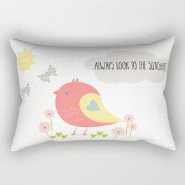Always Look to the Sunshine Rectangular Pillow