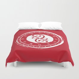 Scorpio Yin Yang Eighth Zodiac Sign Duvet Cover
