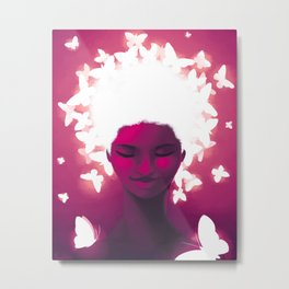 Luminescent Fuchsia Metal Print
