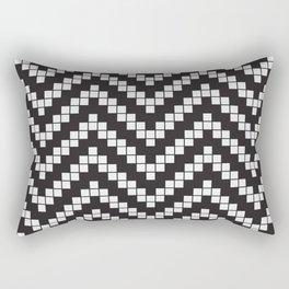 Herringbone Weave Seamless Pattern. Rectangular Pillow