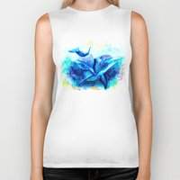 dolphins Biker Tanks featuring Dolphins by isabelsalvadorvisualarts