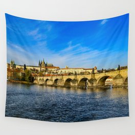 Charles Bridge in Prague Wall Tapestry