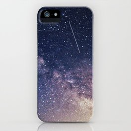 Milky Way and A Shooting Star iPhone Case