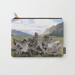 Wilderness Wood Sculpture Carry-All Pouch