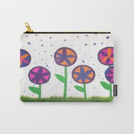 Raindrops and Flowers Carry-All Pouch