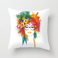 dreamer Throw Pillows featuring Dreamer by PositIva