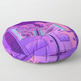 Neon Vending Machines Floor Pillow