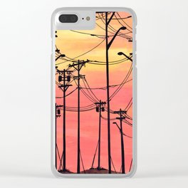 Industry poles sunset Clear iPhone Case
