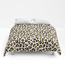 Leopard Print - Mustard Yellow Comforters