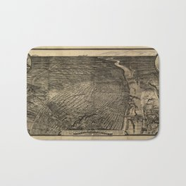 Bird's Eye View of St. Louis, Missouri (1876) Bath Mat