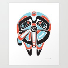 Great Sun Bear - Alliance Is Rebellion  - Millennium Falcon, wars, star Art Print