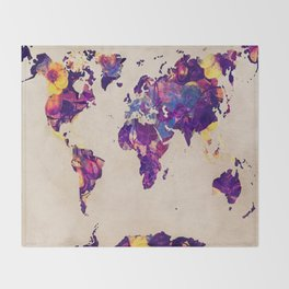 world map 20 Throw Blanket