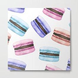 Watercolor macarons Metal Print
