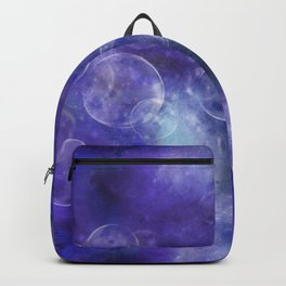 Space Universe with surreal soap bubbles Backpack