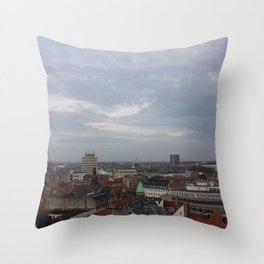 View from the Round Tower Copenhagen 1 Throw Pillow