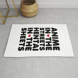 Anime In The Streets Funny Quote Rug