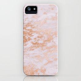Pastel Lavender Marble Rosegold Glitter Pink iPhone Case