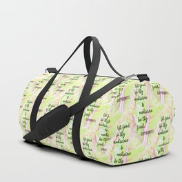 Let food be thy medicine Duffle Bag
