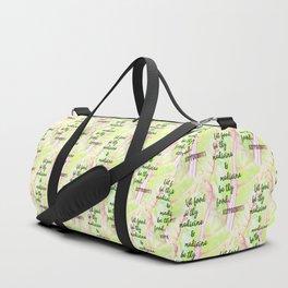 Let food be thy medicine Duffle Bag