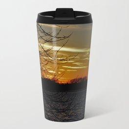 Sunset on the River. Travel Mug