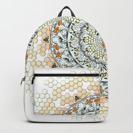 Overlapping Bee Mandala (Color) Backpack
