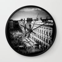 milan Wall Clocks featuring milan by Leone Von Dizic