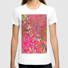 Tropical Summer colorful botanical pattern T-shirt