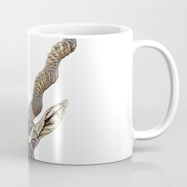 Blackbuck Indian Antelope Attentive Face Twisted Horns Straight Ears Mammal Coffee Mug