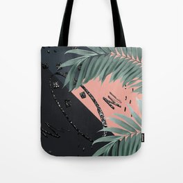 Night Palms Cali Vibes Abstract Glitter Glam #3 #tropical #decor #art #society6 Tote Bag
