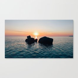 Sunset by the Sea // Landscape Photography Canvas Print