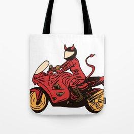 Devil's Motorcycle Tote Bag