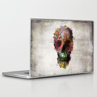 duvet cover Laptop & iPad Skins featuring SKULL 2 by Ali GULEC