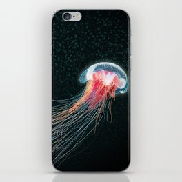 Jellyfish deep sea ocean creature illustration home decor drawing iPhone Skin