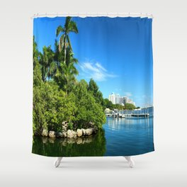Key Biscane Bay Shower Curtain