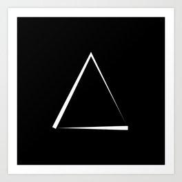 Abstraction 011 - Minimal Geometric Triangle Art Print