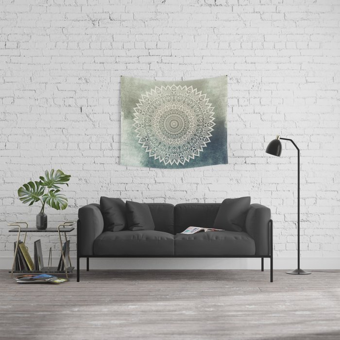 AUTUMN LEAVES MANDALA Wall Tapestry