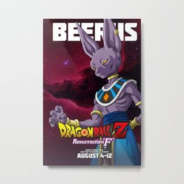 beerus Dragon Ball Super  Metal Print