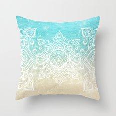 Beach Mandala Throw Pillow