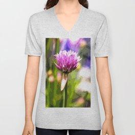 Chive herb Unisex V-Neck
