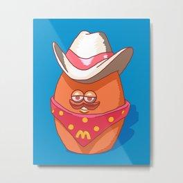 McNugget Buddies Cowboy 1988 Happy Meal Toy Metal Print