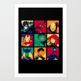 Avenge pop Art Print