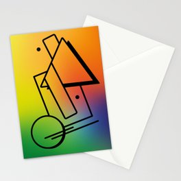 Abstract 80's Memphis Style Stationery Cards