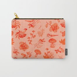 Red Autumn Botanical Pattern Carry-All Pouch