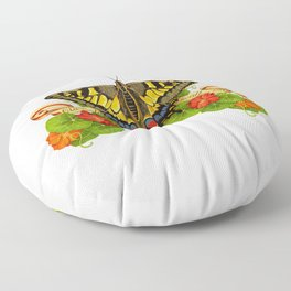 Old World Swallowtail Butterfly Floor Pillow