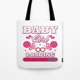 Baby Is Loading Girl Pregnancy Announcement Gift Tote Bag