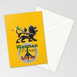 Reggae, Music & Love Stationery Cards